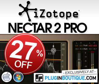 Izotope Nectar Productions Suite 27% off