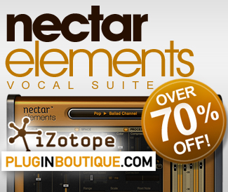 Izotope Nectar Elements 70% off at Plugin Boutique