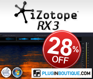 iZotope RX3 Sale at Plugin Boutique