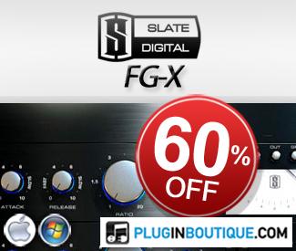 Slate Digital FG-X 60 Off at Plugin Boutique