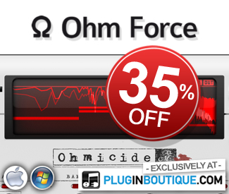 We've teamed up with OhmForce to offer 35% off their range single pack plugins. Exclusively available at Plugin Boutique for two weeks!