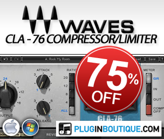 75% off Waves CLA-76 Compressor / Limiter