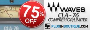 Waves CLA-76 Compressor / Limiter 75% off sale!