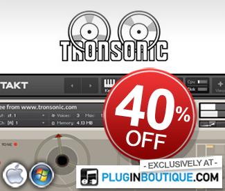 Tronsonic Kontakt Instruments Exclusive 40% off sale!