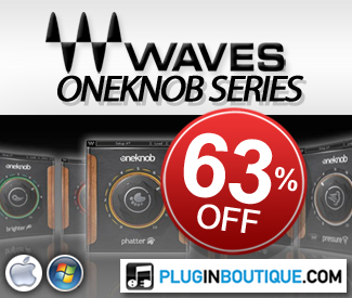 Waves OneKnob Series now 63% off at Plugin Boutique!