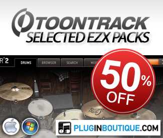 ToonTrack EZX Packs 54% off at Plugin Boutique