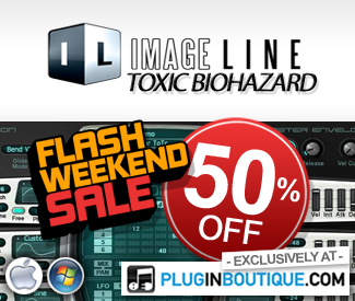 We've teamed up with Image Line this weekend to offer an exclusive 50% off their Toxic Biohazard plugin!