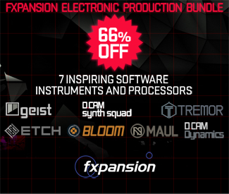 Fxpansion Electronic Production Bundle 66% off at Plugin Boutique