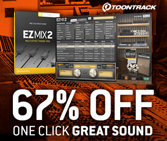 ToonTrack's EZMix 2 Mastering Suite is currently 67% off at Plugin Boutique