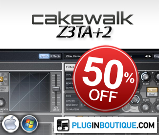 We've teamed up with Cakewalk to offer their monster of a Synth Z3ta+2 for 50% off during the Christmas period!