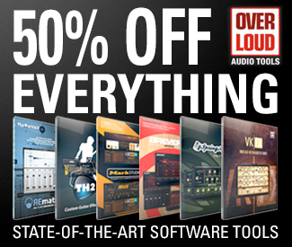 We celebrate the launch of Overloud software on Plugin Boutique with a 50% off everything sale.