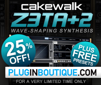 Cakewalk Z3ta+2 25% Sale