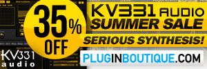 KV331 Audio Synthmaster Summer Sale