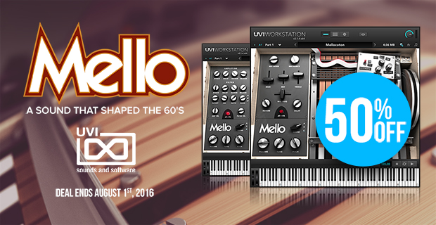 UVI Deal Of the week: Save 50% off the sound of the 60's: Mello