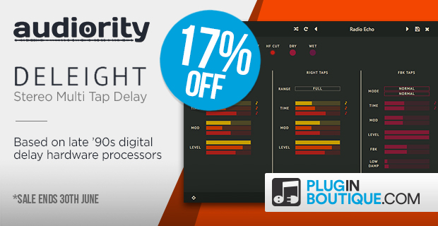 Audiority Deleight Introducotry Sale: Save 17% off at Plugin Boutique