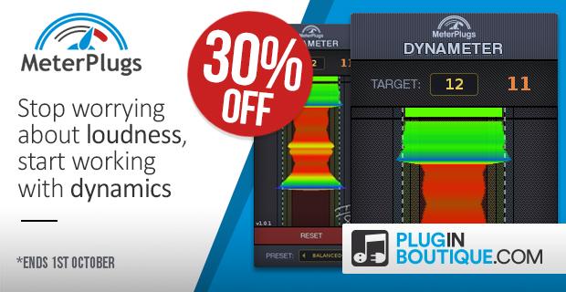 MeterPlugs Dynameter Sale: Save 30% off at Plugin Boutique