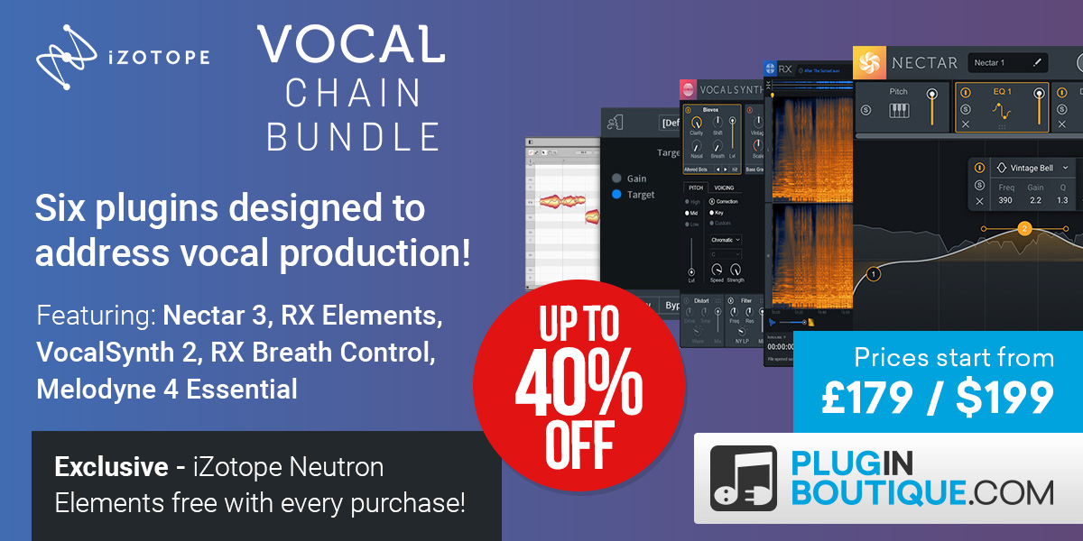 1200x600 izotope vocal chain bundle banners