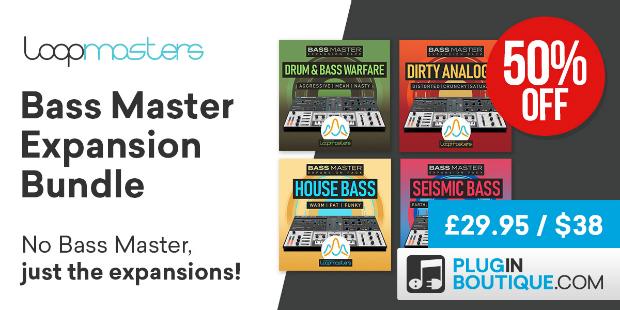 15 loopmasters bassmaster expansion bundle cybermonday pluginboutique