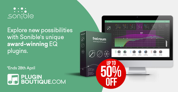 Sonible Spring Sale, save up to 50% off at Plugin Boutique