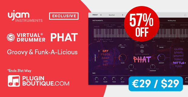 UJAM PHAT Sale, save 57% off at Plugin Boutique