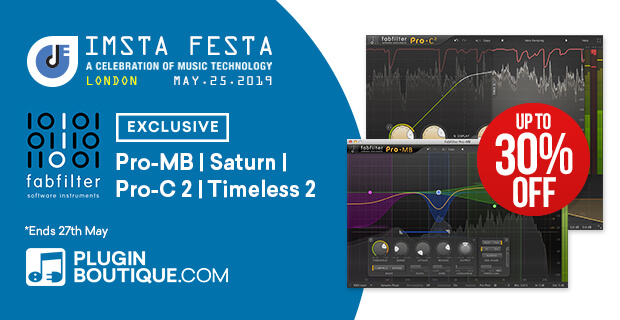 FabFilter Sale, save 30% off at Plugin Boutique