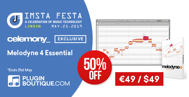Celemony Melodyne Essential Sale, save 50% off at Plugin Boutique