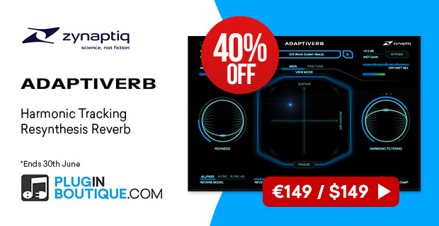 Zynaptiq ADAPTIVERB Sale, save 40% off at Plugin Boutique