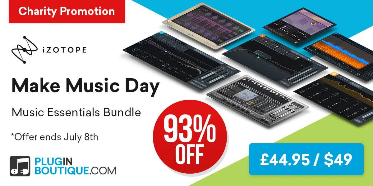 iZotope Music Essentials Bundle: Save at Plugin Boutique