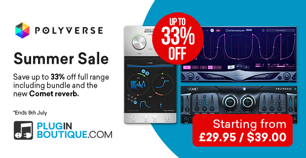 Polyverse Sale, save up to 33% off at Plugin Boutique