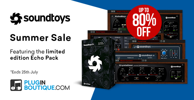Soundtoys Summer Sale, save up to 80% off at Plugin Boutique