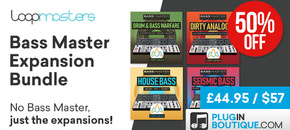 15 loopmasters bassmaster expansion bundle cybermonday pluginboutique